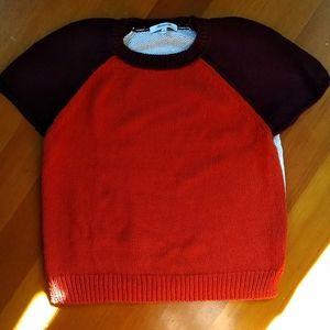 Madewell Colorblock Short Sleeve Sweater Raglan M